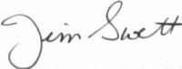 The signature of Colonel James E Swett USMC MOH (deceased)