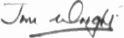 The signature of Wing Commander Jim Wright DFC