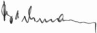 The signature of Feldwebel Johannes Bachmann