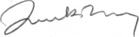 The signature of John Bentley