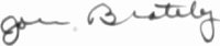 The signature of Amm John Brately (deceased)