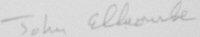 The signature of Air Commodore John Ellacombe CB DFC* (deceased)