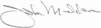 The signature of Captain John Madden