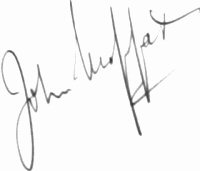 The signature of Lieutenant Commander John William Jock Moffat RN