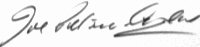 The signature of Flight Lieutenant John Petrie-Andrews DFC DFM
