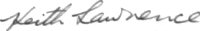 The signature of Squadron Leader Keith Lawrence DFC (deceased)