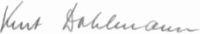 The signature of Kurt Dahlmann