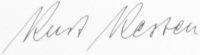 The signature of Unteroffizier Kurt Kesten