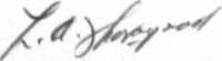 The signature of Squadron Leader Laurence Thorogood DFC AE (deceased)