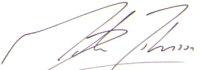 The signature of Martin Johnson