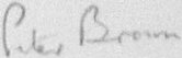 The signature of Squadron Leader Maurice Peter Brown (deceased)