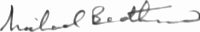 The signature of Marshal of the Royal Air Force Sir Michael Beetham GCB CBE DFC AFC FRAeS (deceased)