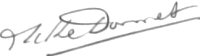 The signature of Lieutenant General Avi Baron M Donnet CVO DFC FRAeS