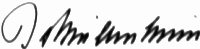 The signature of Burkhard Baron Von Mullenheim-Rechberg (deceased)