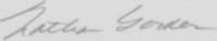 The signature of Lieutenant Commander Nathan Gordon (deceased)