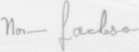 The signature of Warrant Officer Norman Jackson VC (deceased)