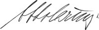 The signature of Otto Carius