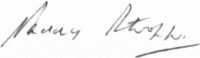 The signature of Wing Commander Paddy Barthropp DFC AFC (deceased)