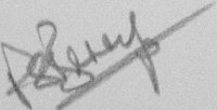 The signature of Wing Commander Peter Berry DFC