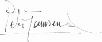 The signature of Group Captain Peter Townsend CVO, DSO, DFC (deceased)
