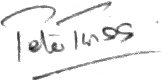 The signature of Lieutenant Peter Twiss OBE DSC (deceased)