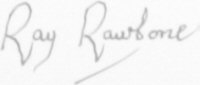 The signature of Rear Admiral Ray Rawbone CB AFC RN