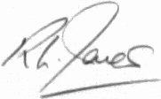 The signature of Flight Lieutenant Richard L Jones (deceased)