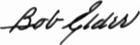 The signature of Captain Robert M Elder USN (deceased)