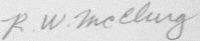 The signature of Lieutenant Colonel Robert W McClurg (deceased)