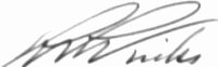 The signature of Captain Robert P Winks (deceased)