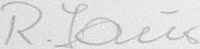 The signature of Oberfeldwebel Rony Lauer