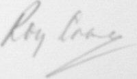 The signature of Flight Lieutenant Roy Crane