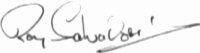 The signature of Roy Salvadori (deceased)