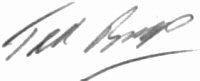 The signature of Lieutenant Ted Briggs RN (deceased)