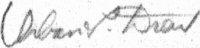 The signature of Maj Urban L Drew USAF (deceased)