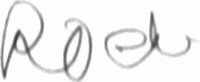 The signature of Major Werner Roell (deceased)