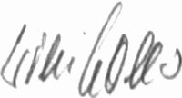 The signature of Leutnant Wilhelm Noller (deceased)