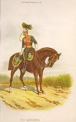 5th Lancers by Richard Simkin.