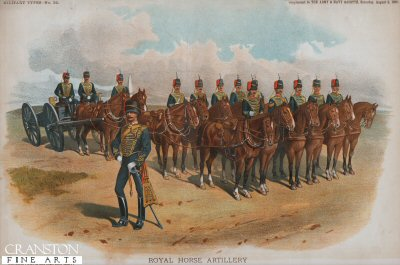 Royal Horse Artillery by Richard Simkin.