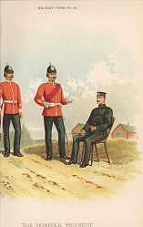The Norfolk Regiment (9th Foot) by Richard Simkin (P)