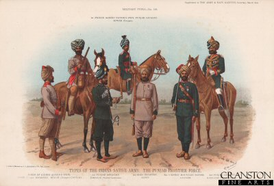 Types of the Indian Native Army, The Punjab Frontier Force by Richard Simkin (P)