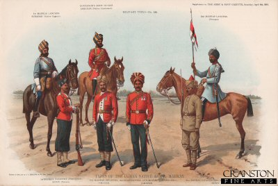Types of the Indian Native Army, Madras by Richard Simkin