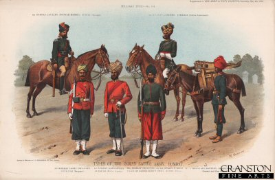 Types of the Indian Native Army, Bombay by Richard Simkin