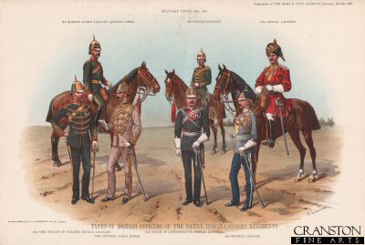 Types of British Officers of the Native Indian Cavalry Regiments by Richard Simkin (P)