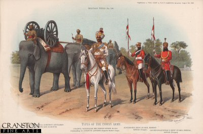 Types of the Indian Army by Richard Simkin (P)