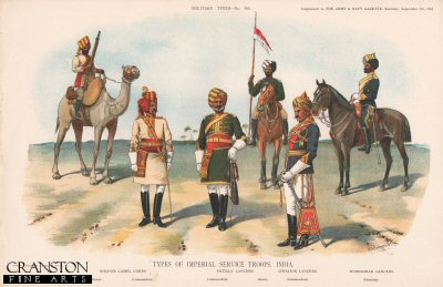 Types of Imperial Service Troops, India by Richard Simkin
