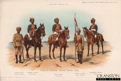 Type of the Imperial Service Troops, India (No.2) by Richard Simkin