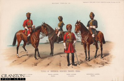 Types of Imperial Service Troops, India (No.3) by Richard Simkin