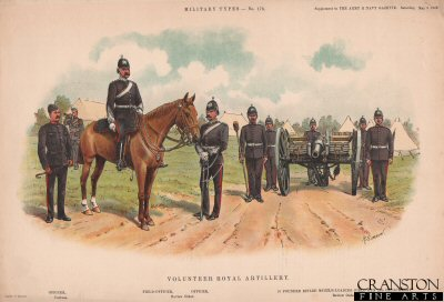 Volunteer Royal Artillery by Richard Simkin