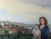 CC207. Mother and Child with seascape circa 1800s by Chris Collingwood.